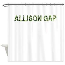 Allison Gap, Vintage Camo, Shower Curtain