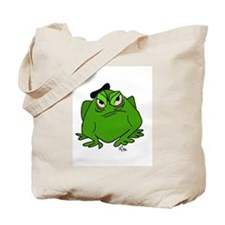 Frog with Beret Tote Bag