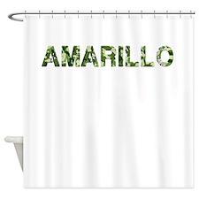 Amarillo, Vintage Camo, Shower Curtain