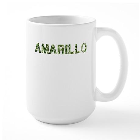 Amarillo, Vintage Camo, Large Mug