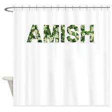 Amish, Vintage Camo, Shower Curtain