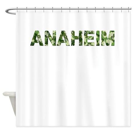 Anaheim, Vintage Camo, Shower Curtain