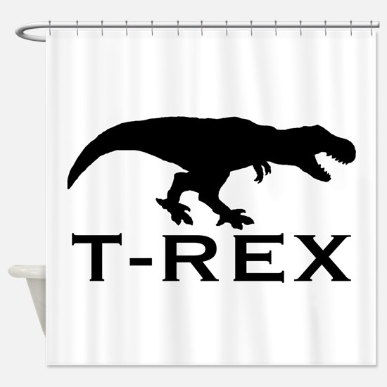 T Rex Shower Curtain