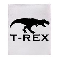 T Rex Throw Blanket