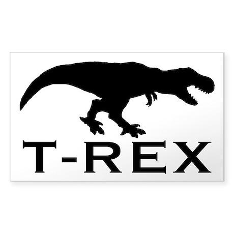 T Rex Sticker (Rectangle)