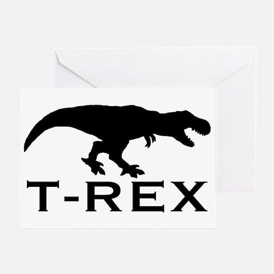 T Rex Greeting Card