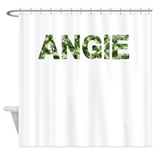 Angie, Vintage Camo, Shower Curtain