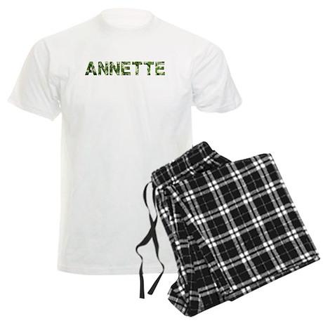 Annette, Vintage Camo, Men's Light Pajamas