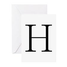 Greek Letter Eta Greeting Cards (Pk of 10)