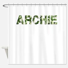 Archie, Vintage Camo, Shower Curtain