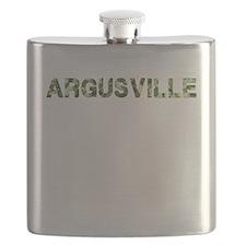 Argusville, Vintage Camo, Flask