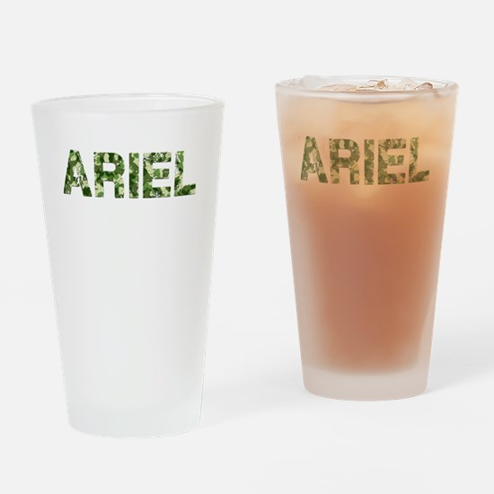 Ariel, Vintage Camo, Drinking Glass