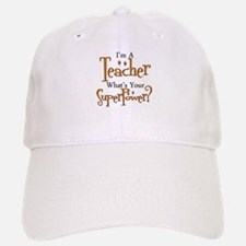 Super Teacher Baseball Baseball Cap