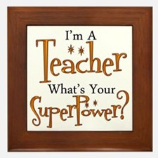 Super Teacher Framed Tile
