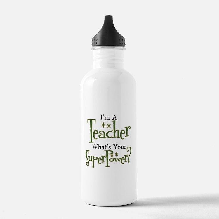 Super Teacher Sports Water Bottle