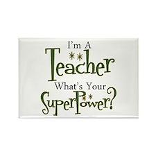 Cute Preschool teacher Rectangle Magnet (100 pack)