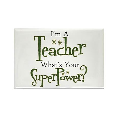 Super Teacher Rectangle Magnet (100 pack)