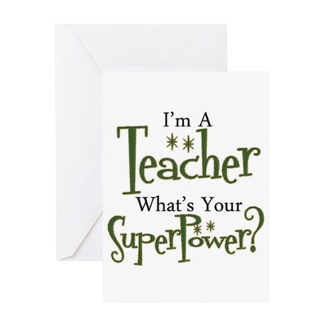 super teacher Greeting Cards