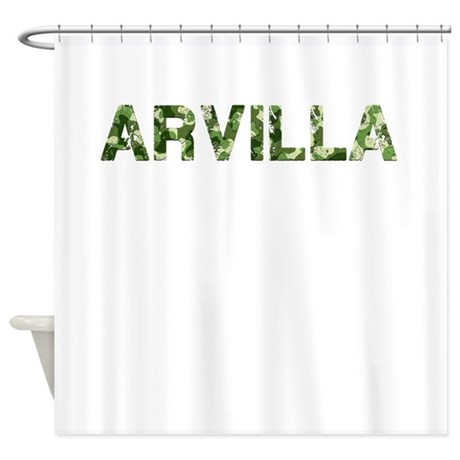 Arvilla, Vintage Camo, Shower Curtain