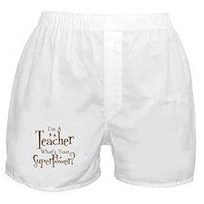 Cute Teacher appreciation Boxer Shorts
