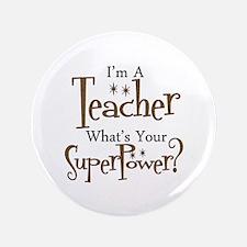 """Super Teacher 3.5"""" Button (100 pack)"""
