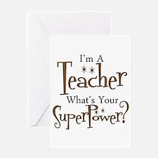 Super Teacher Greeting Card