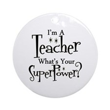 Cute Kindergarten teacher Ornament (Round)