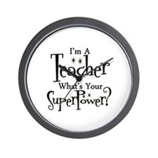 Cute Kindergarten teacher Wall Clock