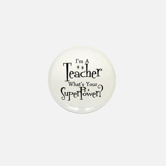Super Teacher Mini Button (10 pack)