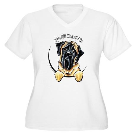 Bull Mastiff IAAM Women's Plus Size V-Neck T-Shirt