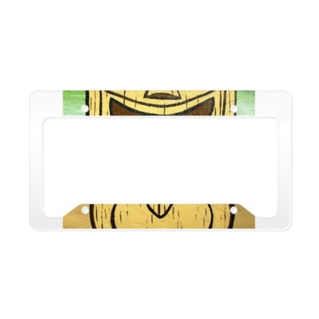 tiki tongue License Plate Holder