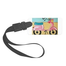 pink moped Luggage Tag