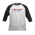 Heart Teacher/Mom Kids Baseball Jersey