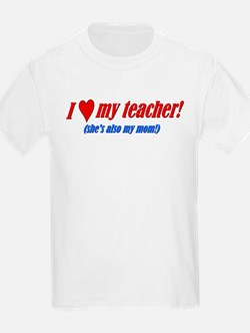 Heart Teacher/Mom Kids T-Shirt