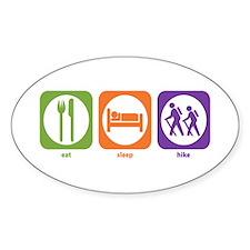 Eat Sleep Hike Oval Decal