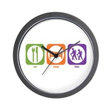 Eat Sleep Hike Wall Clock