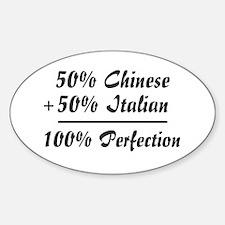 Half Italian, Half Chinese Oval Decal