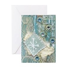 Snow Collage Greeting Card