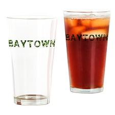 Baytown, Vintage Camo, Drinking Glass
