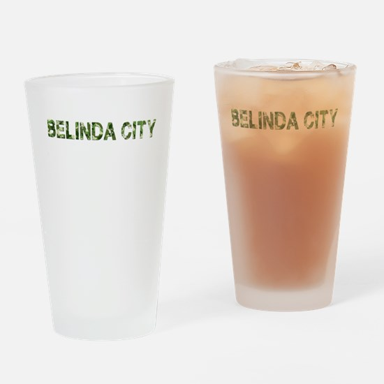 Belinda City, Vintage Camo, Drinking Glass