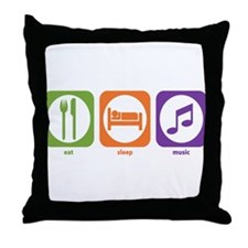 Eat Sleep Music Throw Pillow