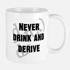 Drink-and-derive-3d-blackLetters copy Mugs