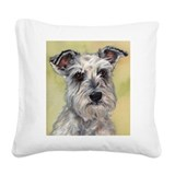 Miniature schnauzer Square Canvas Pillows