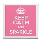 Keep Calm and Sparkle Tile Coaster