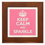 Keep Calm and Sparkle Framed Tile