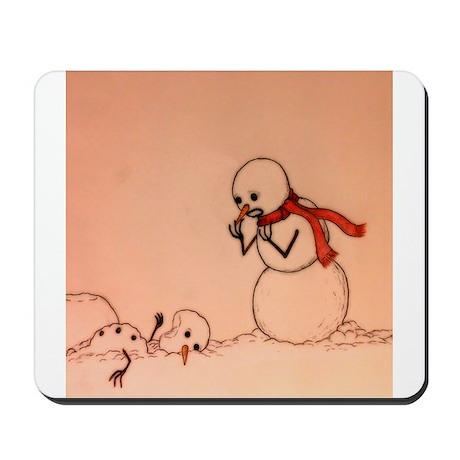 Tragic Snowman Mousepad