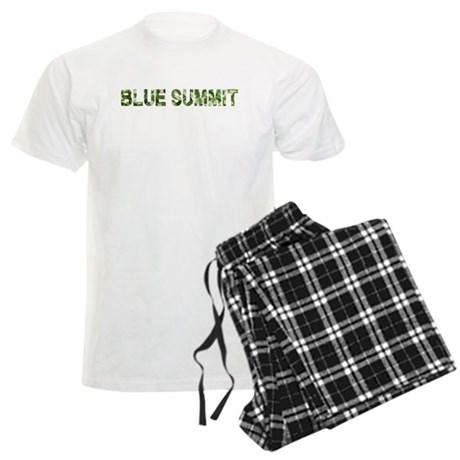 Blue Summit, Vintage Camo, Men's Light Pajamas