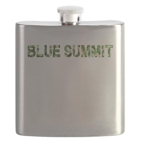 Blue Summit, Vintage Camo, Flask