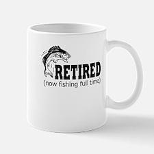 Retired Fishing Shirt Mugs