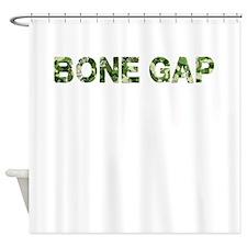 Bone Gap, Vintage Camo, Shower Curtain